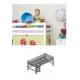 Paaukštinta PREMIUM, modulinė lova (200x90)