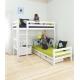 Dviaukštė PREMIUM, modulinė lova (200x90) kampu